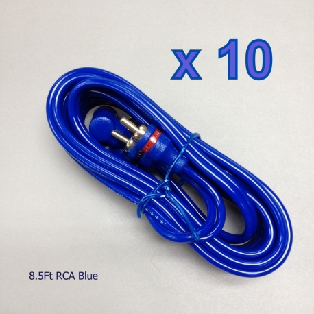 10 x 8.5 FT 2-RCA Male Stereo Audio Cable