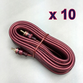 10 x 16 FT 2-RCA Male Plug Stereo Audio Cable