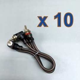 10 x 40cm 2-RCA Male Stereo Audio Cable