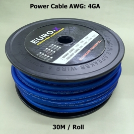 4 GA AUDIO POWER CABLE Frosted Blue 30M/Roll