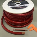 0 GA RED HIGH PERFORMANCE AUDIO POWER CABLE 15M / Roll