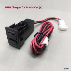 Dual USB 23x36mm Dashboard Charger 5V for New Honda (s) 2015