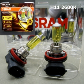 H11 OSRAM 12V 2600K Yellow Car Headlight Bulb x 1 Pair