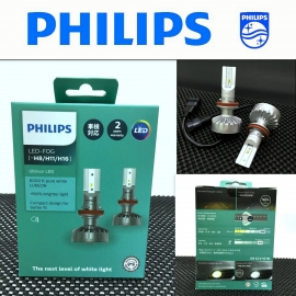 PHILIPS  Ultinon LED-FOG H8/H11/H16 6000K White Headlight Bulb 2 Pcs/Pack