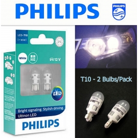 PHILIPS  Ultinon LED T10 W5W  Interior White Light Bulb X2