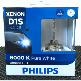 PHILIPS D1S Ultinon HID 6000K Headlight Bulb 2 Pcs/Pack