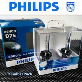PHILIPS D2S Ultinon HID 6000K Xenon Headlight Bulb 2 Pcs/Pack