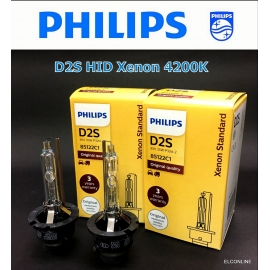 PHILIPS D2S HID Xenon 85122C1 35W 4200K Headlight Bulb