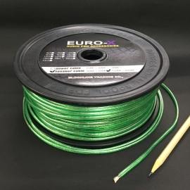 20GA Silver/Green Color Car Audio Speaker Cable 100M/Roll