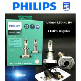 PHILIPS Ultinon LED-HL H4 6000K +160% Brighter Light Bulb X 2