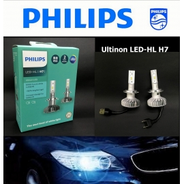 PHILIPS Ultinon LED-HL H7 6000K +160% Brighter White Light Bulb X 2
