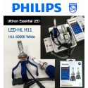 PHILIPS LED-HL H11 6000K Ultinon Essentail LED Light Bulb X 2
