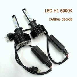 H1 LED T6 6000K White 12V/24V CANBus Decode Car Light Bulb