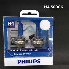 PHILIPS H4 5000K DiamondVision 12V  Halogen Bulb X2