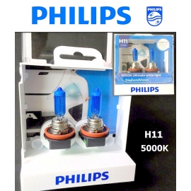 PHILIPS H8 5000K DiamondVision 12360DV 12V 35 Halogen Bulb X 2
