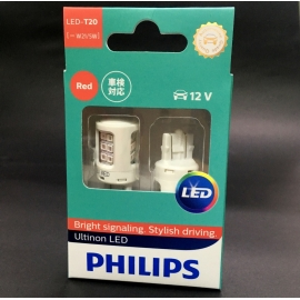 PHILIPS T20 Ultinon LED Red W21/5W 12V Car Signal / Tail Light 2 Pcs/Pack