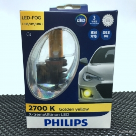 PHILIPS H8 H11 H16 LED-FOG 2700K Golden Yellow Headlight X 2