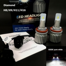 Diamond  H8/H9/H11/H16 LED Built-in Driver Headlight Bulb 2 Pcs/Pack