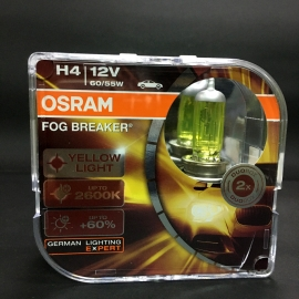 H4 9003 OSRAM 2600K Deep Yellow Headlight Bulb 12V 55W