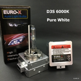 D3S HID Xenon Bulb 6000K White Metal Case Headlight Bulb 1 Pair