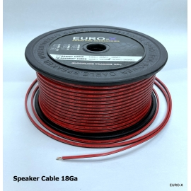 AWG: 18GA 2x 0.75mm2 Black/Red Car Audio Speaker Cable 100M/Roll