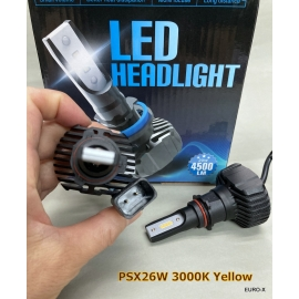 PSX26W LED 3000K Yellow Fog Spot Light for TOYOTA HIACE 200