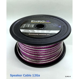 12GA Silver/Purple Speaker Cable 30M/Roll