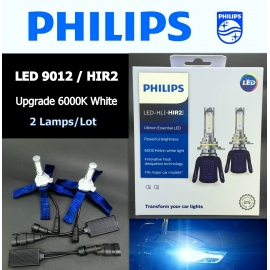 PHILIPS LED-HL HIR2 9012 6000K Ultinon Essentail Car Light Bulb X 2