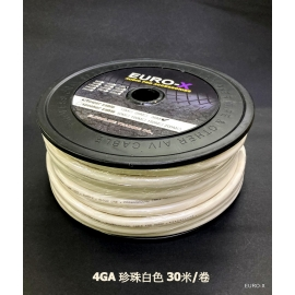 4 GA AUDIO POWER CABLE Pearl White 30M/Roll