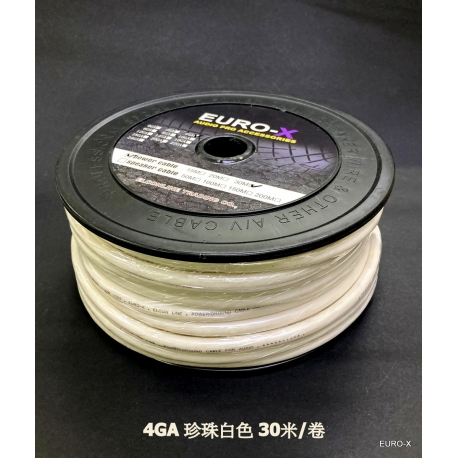 4 GA AUDIO POWER CABLE White 30M/Roll