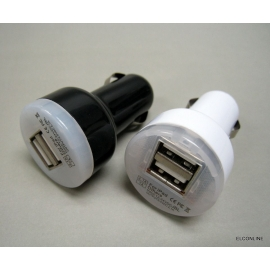 DC 12V/24V Dual USB 5V 2.1A & 1A Car Charger Power Adapter with Light x 2