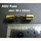 FH-1+8 IN LINE AGU Fuse Holder with 8 Gauge wire + 40A AGU Fuse
