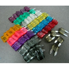 New 1-40A  ATM Mini Blade Fuse Jumbo Assort 12 Different Sizes 60 Pcs