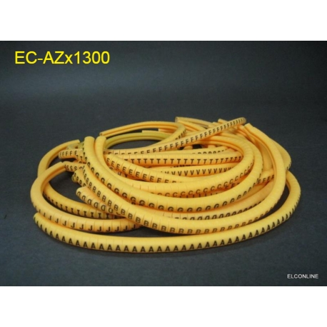 EC-1 Yellow Cable Wire Markers Letter A to Z x 1300 pcslot