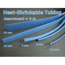 Blue Heat Shrink Tubing Assorted Size Dia 2.5mm-15mm 5M