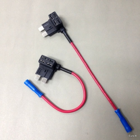 FH145 Car Add A Circuit Standard ATO ATC Blade Fuse Tap Holder Expandable x 2 Pcs