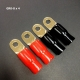 "GR 0-8 Car Audio 5/16"" Wire Ga 0 Ring Terminal Brass Crimp Connector x 4 Pcs"