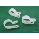 "CC-5 Nylon White Wire Clip Cable Clamp for Cable Hose diam.3/4"" (100 pcs)"