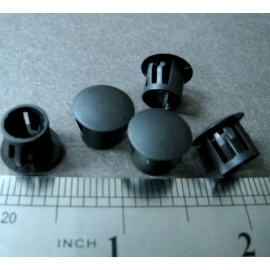 Black Nylon Locking Hole Plug Button Cover 10mm 16mm 19mm 22mm 25mm 30mm (100 Pcs)