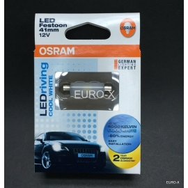 OSRAM LED Festoon 41mm 6441CW 6000K Cool White Car Interior Light