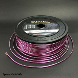 20GA Silver/Purple Car Audio Speaker Cable 100M/Roll