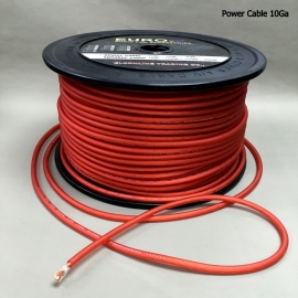 AWG : 10GA AUDIO POWER CABLE Frosted Red 100M/Roll