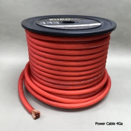 4 GA AUDIO POWER CABLE Frosted RED 30M/Roll