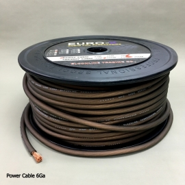 6 GA AUDIO POWER CABLE Frosted Brown 50M/Roll
